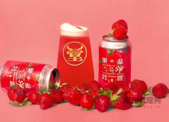 牛啤堂草莓弹海盐酸啤