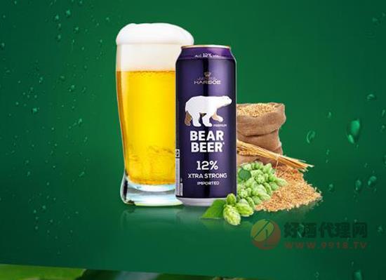 哈尔博蓝熊烈性啤酒