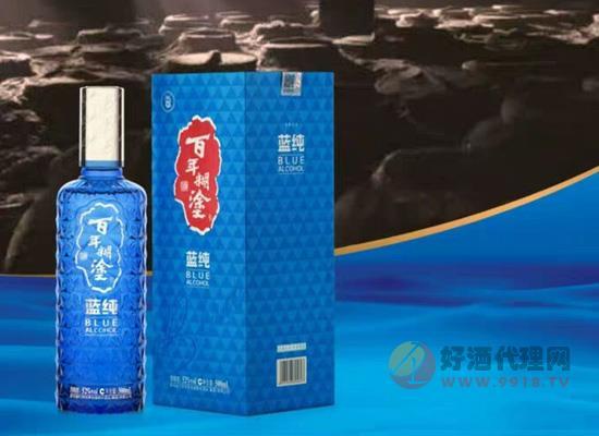 百年糊涂纯蓝浓香型白酒