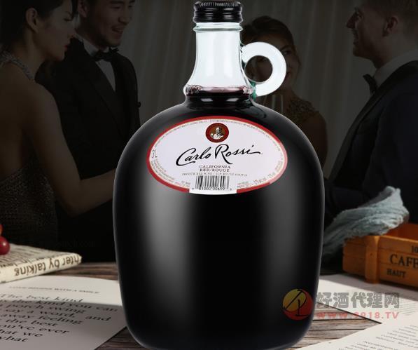 美國加州樂事紅酒3升