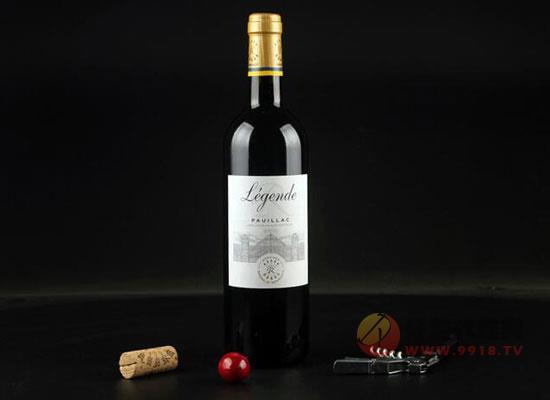 拉菲傳奇波亞克干紅葡萄酒
