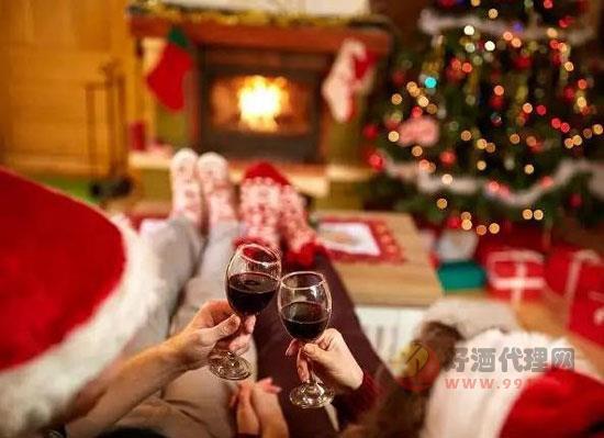 圣誕節賣葡萄酒