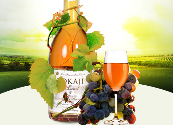 托卡依甜白葡萄酒