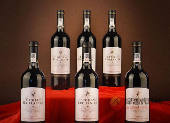 八芒星干红葡萄酒价格