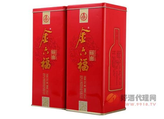 52度 金六福特曲價格(紅鐵盒) 500ml