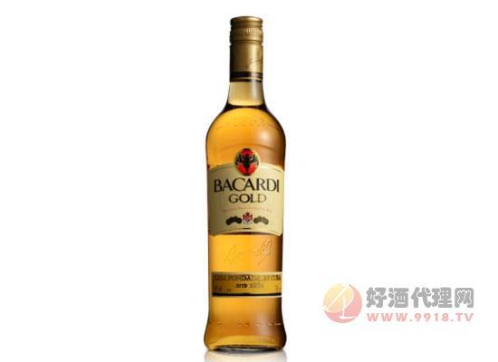 40度进口洋酒波多黎各百加得金朗姆酒价格