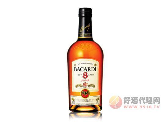 原装进口洋酒 Bacardi百加得八年朗姆酒价格