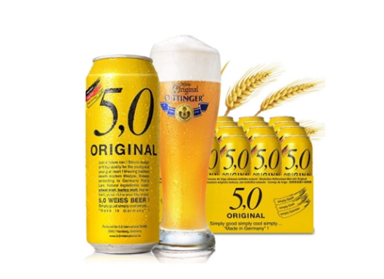 奧丁格5.0黃啤酒價格500ml