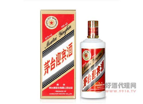茅臺迎賓酒43度500ml醬香型白酒價格