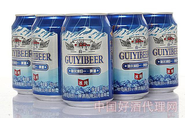 哈尔滨归一啤酒图片