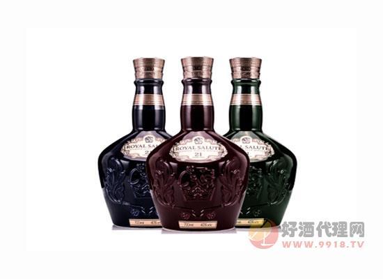 皇家禮炮21年 洋酒蘇格蘭威士忌三色套裝價格