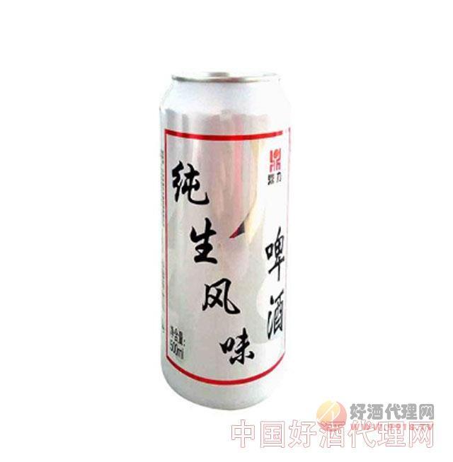 鼎力纯生风味啤酒500ml