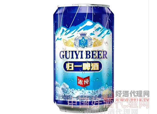 哈尔滨归一冰纯啤酒330ml