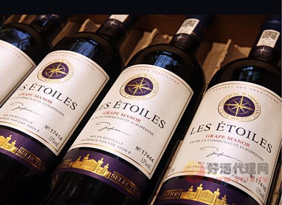 法國進口紅酒 曼拉維八角星干紅價格