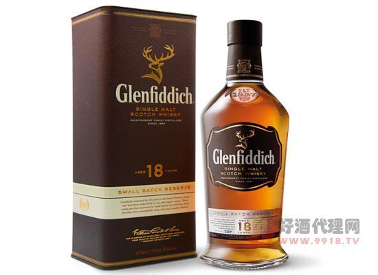 格兰菲迪威士忌18年价格单瓶贵吗