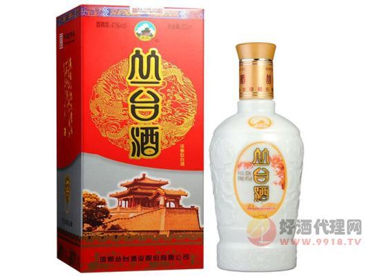 河北邯郸特产粮食酒白瓷瓶丛台酒价格多少?