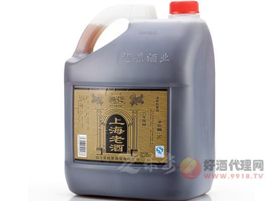 紹興越景黃酒八年陳上海老酒黑標桶裝價格