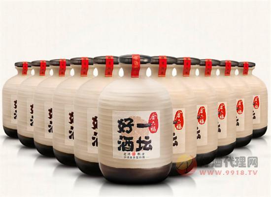 金六福一壇好酒40.8度白酒500ml價格