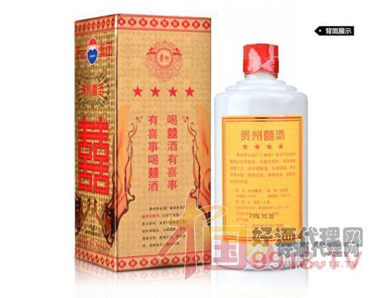 38度茅臺貴州囍酒(2003-2004年)背面展示