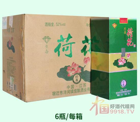 生態荷花酒產品箱裝圖片