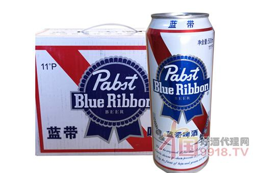蓝带啤酒经典听装整箱产品图