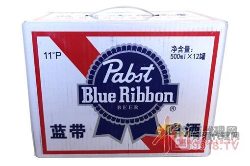 蓝带啤酒经典听装整箱外观图