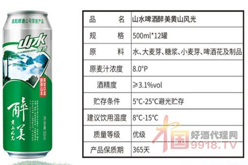 青岛山水啤酒产品图片