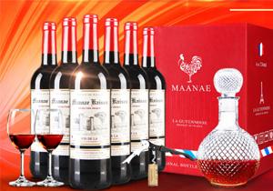 法國原瓶進口紅酒凱旋干紅葡萄酒禮盒裝