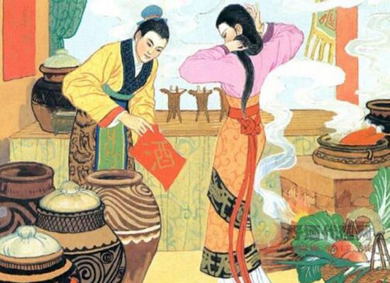 """""""文君当垆,相如涤器""""古代爱情典故中的酒文化"""
