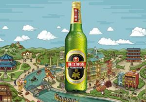 珠江啤酒公交广告