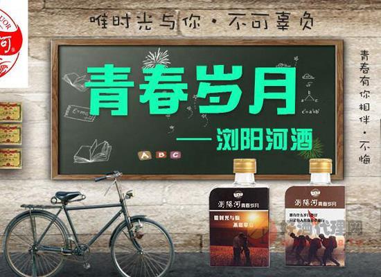 浏阳河酒厂出品青春岁月小酒联手好酒代理,线上招商全面开启!