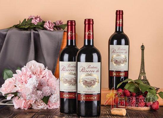 圣芝红酒法国波尔多AOC银奖