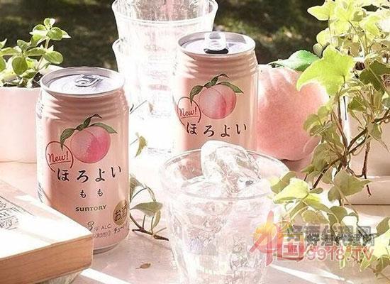 三得利利蜜桃水果酒