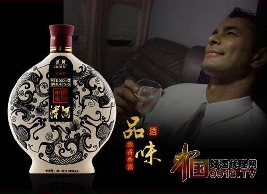 津酒40度扁凤壶