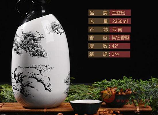 云南松子酒價格是多少,42度蘭益壇裝松子酒零售價