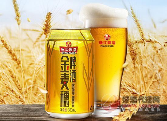 珠江金麦穗啤酒