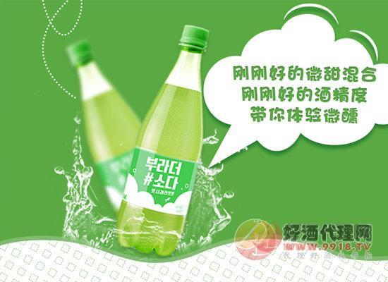 韩国宝海苹果味鸡尾酒