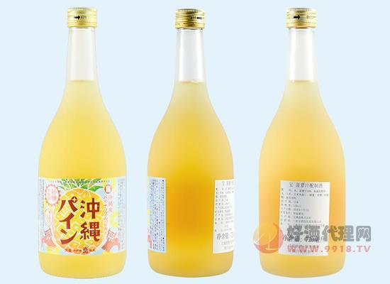 宝菠萝汁配制酒720毫升六瓶价格,果香浓郁