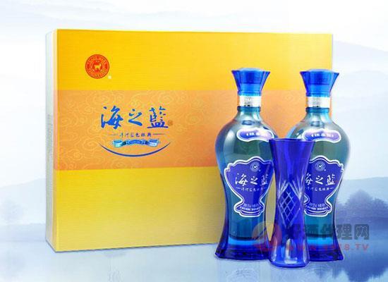 海之蓝42度480ml多少钱一瓶,绵柔海之蓝礼盒装价位