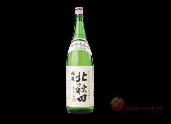 北秋田日本米酒多少錢一瓶,1.8L大容量價格貴不貴