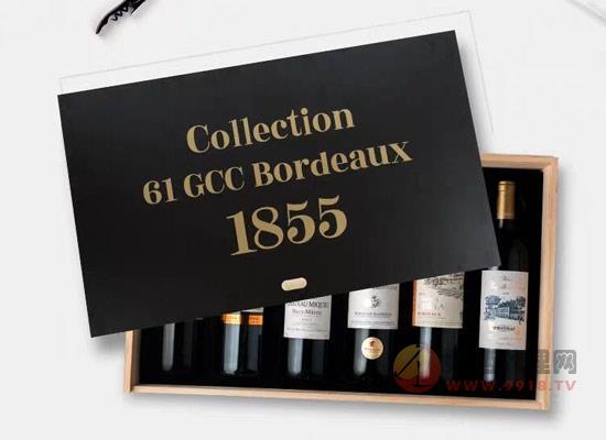 波尔多梅多克1855干红葡萄酒价格怎么样,一套多少钱