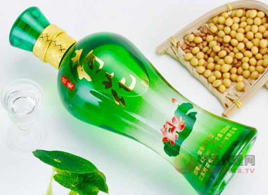 江蘇荷花酒多少錢一瓶,龍瓷荷花酒42度濃香型價格