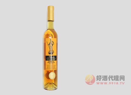 雅典娜金鉆甜白葡萄酒多少錢一瓶,市場零售價介紹