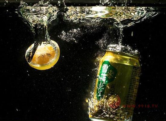 雪花純生匠心營造,金色鋁罐,盡享嗨啤時刻!
