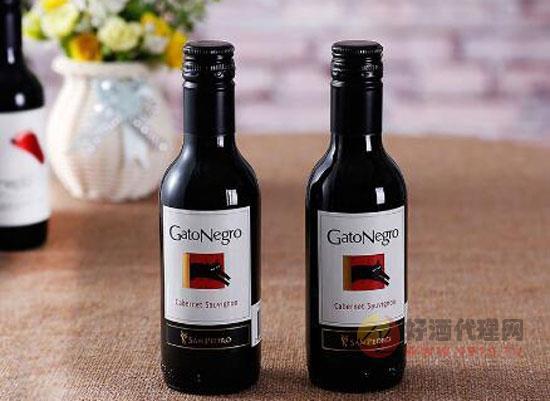 小瓶红酒礼盒装推荐,智利黑猫葡萄酒礼盒