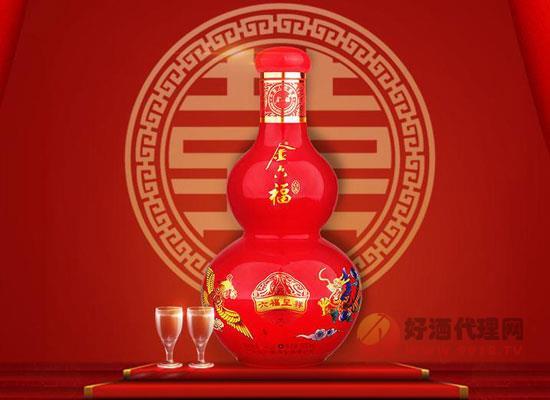 金六福六福呈祥酒,中高價位婚宴酒的經典之作!