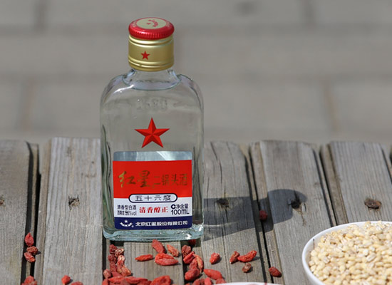 北京红星二锅头56度扁小二100ml多少钱一箱