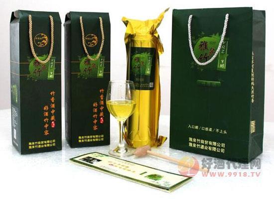 用竹子裝的雅泉竹酒價格