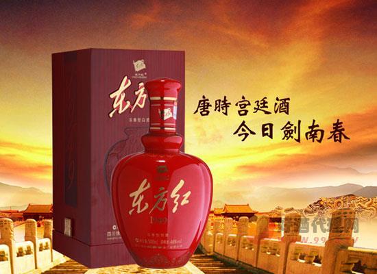 劍南春東方紅白酒怎么樣,酒體醇厚,酒香幽雅