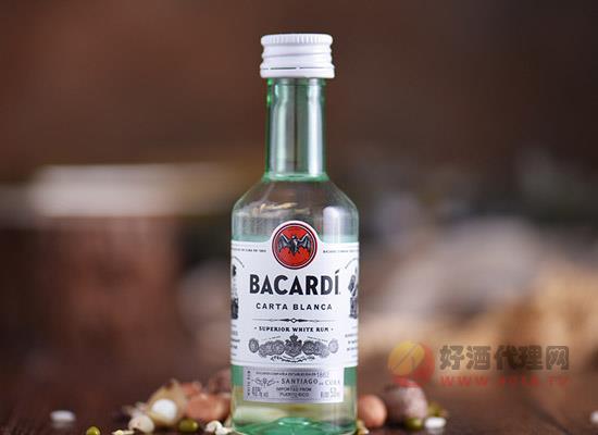百加得白朗姆酒50ml多少錢,小巧容量,迷你價位!